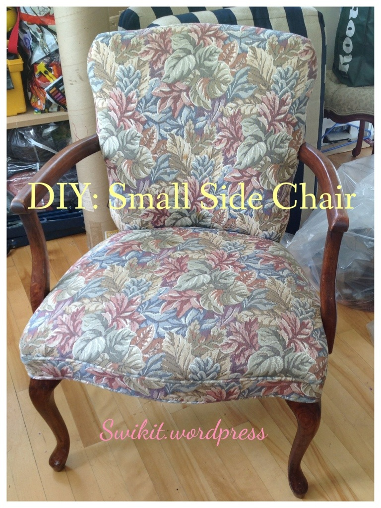diy upholstering a small side chair artisan upholstery studio