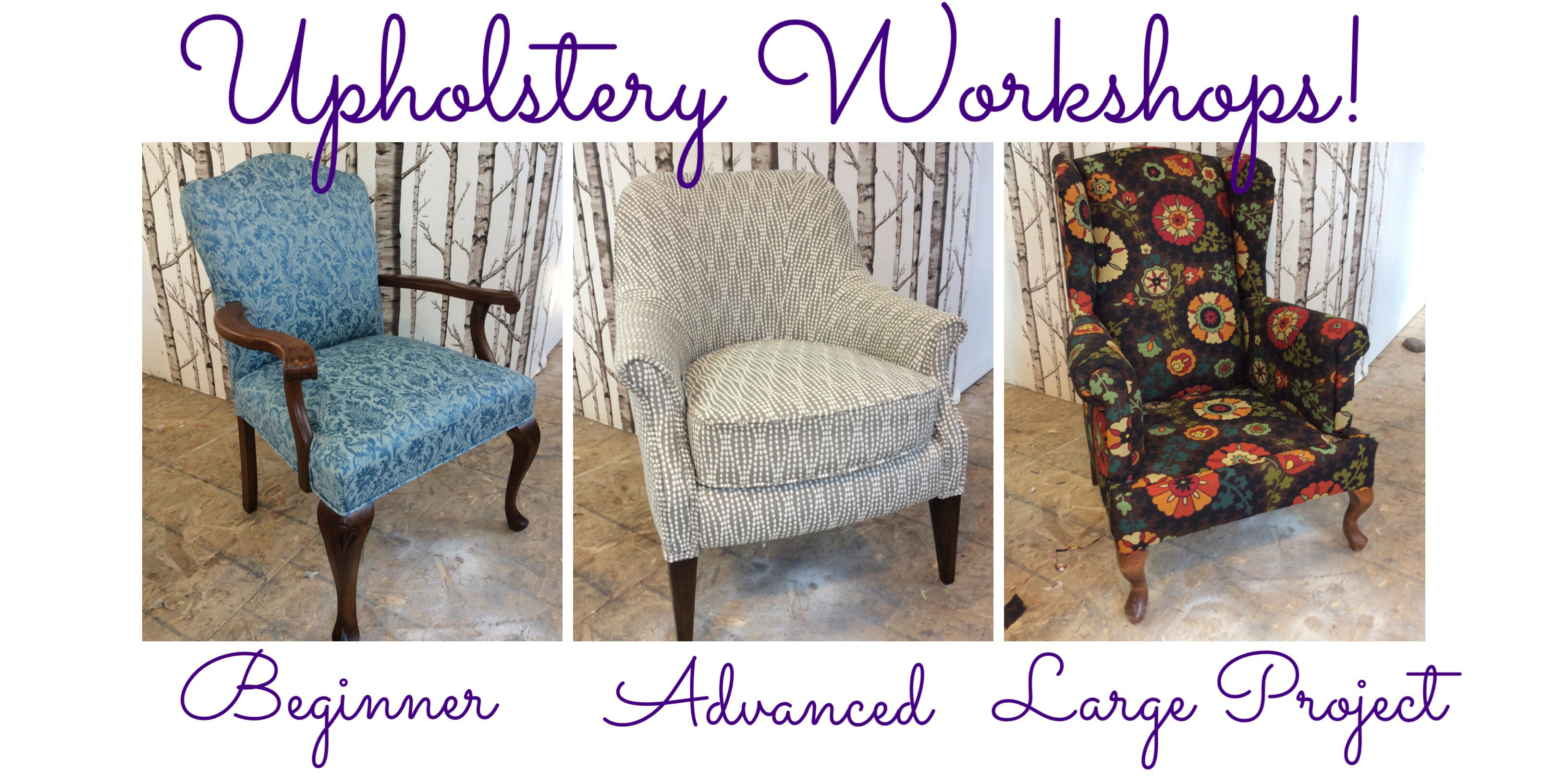 Tag Upholstery Workshops Classes Courses DIY Halifax Nova Scotia Canada