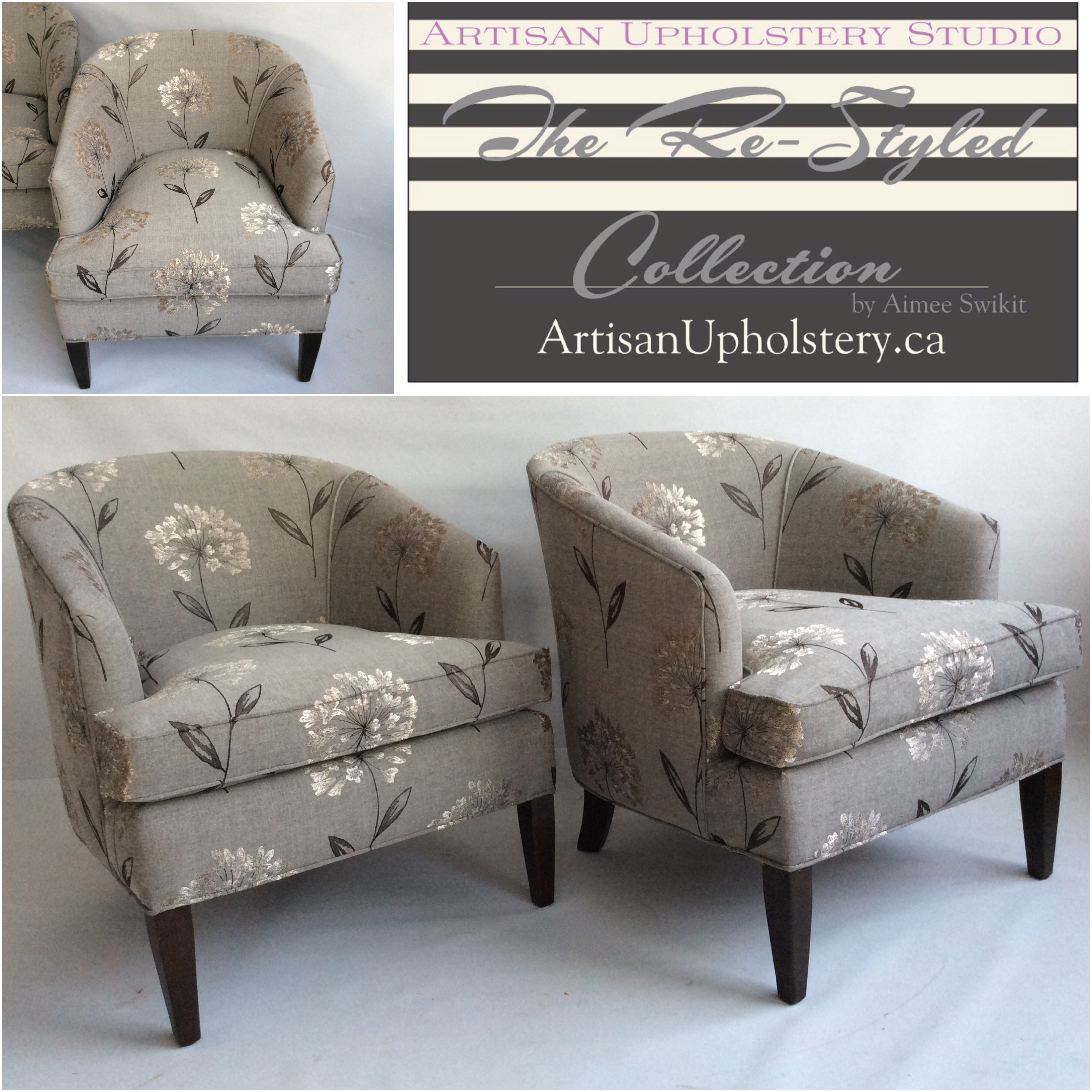 Set of Vintage Tub Chairs – SOLD – Artisan Upholstery Studio